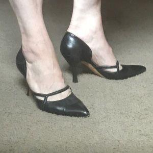 Manolo Blahnik black heels.